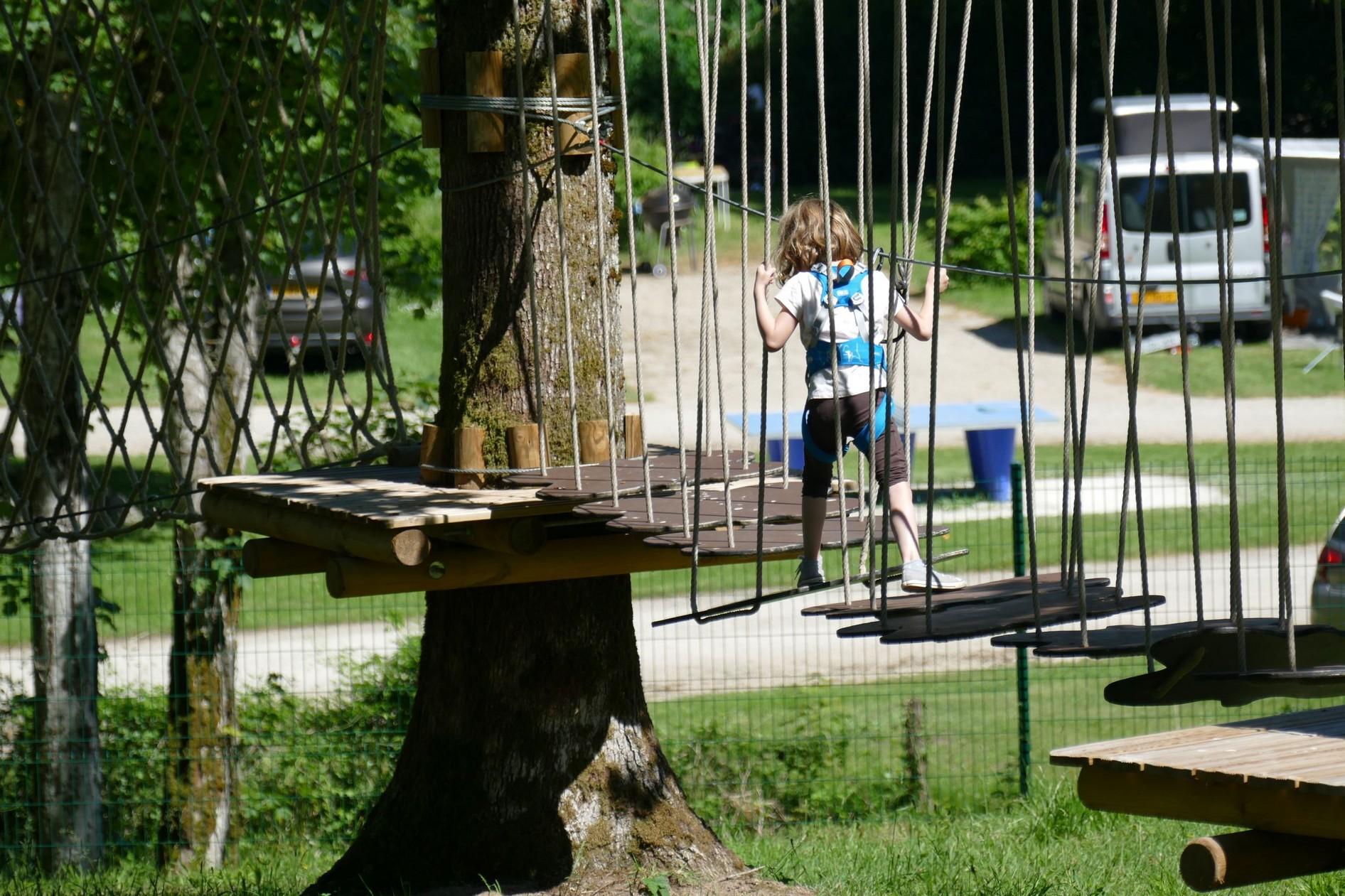 parcours pour les enfants accrobranche lac du der louvemont